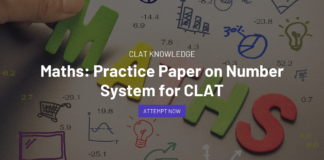 practice paper on number system for CLAT
