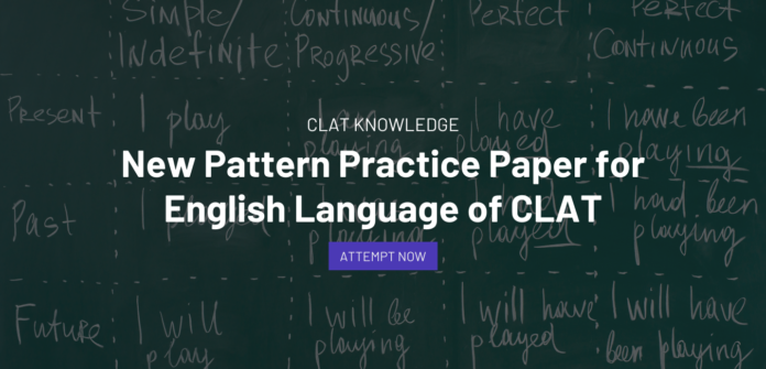 New Pattern Practice Paper for English Language of CLAT