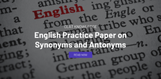 English Practice Paper on Synonyms and Antonyms