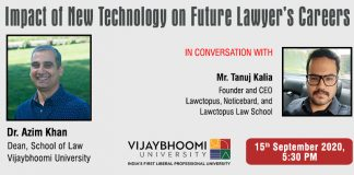 Lawctopus and Vijaybhoomi University Webinar