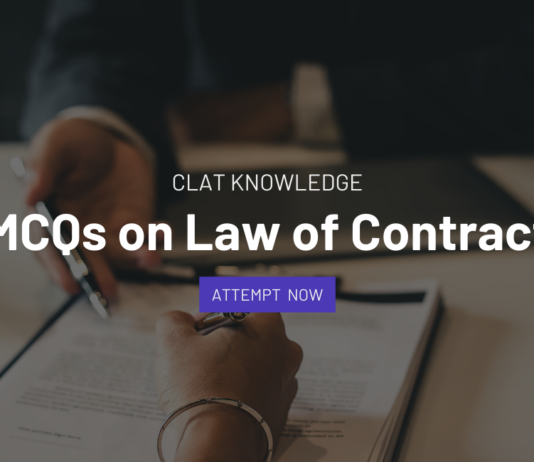 contract law mcqs for clat slat