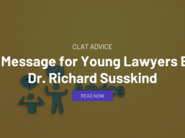 A Message for Young Lawyers By Dr. Richard Susskind