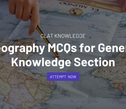 geography mcqs for clat