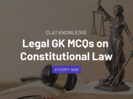 mcqs on constitutional law clat