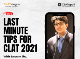 last minute tips for clat 2021