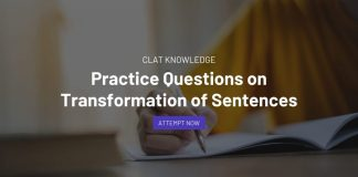 Practice Questions on Transformation of Sentences