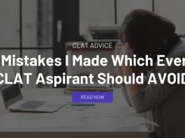 5 Mistakes I Made Which Every CLAT Aspirant Should AVOID