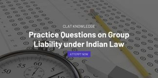 Practice Questions on Group Liability under Indian Law