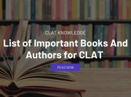 List of Important Books And Authors for CLAT