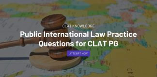 Public International Law Practice Questions for CLAT PG