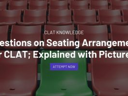 Questions on Seating Arrangement for CLAT; Explained with Pictures!