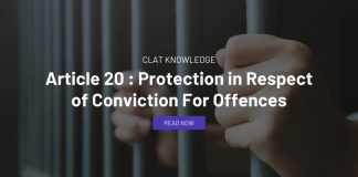 Article 20 : Protection in Respect of Conviction For Offences