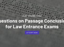 Questions on Passage Conclusion for Law Entrance Exams