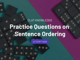 Practice Questions on Sentence Ordering