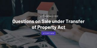 Questions on Sale under Transfer of Property Act