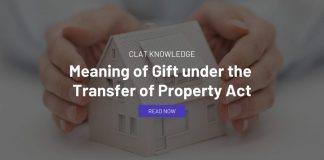 Meaning of Gift under the Transfer of Property Act