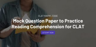 Mock Question Paper to Practice Reading Comprehension for CLAT