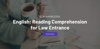 English: Reading Comprehension for Law Entrance