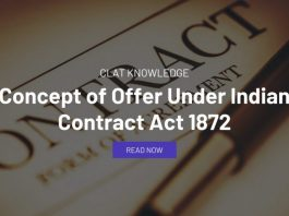 Concept of Offer Under Indian Contract Act 1872